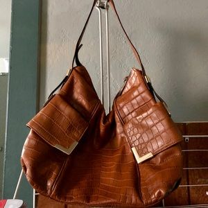 Michael Kors Shoulder Hobo Bag in Chestnut Leather